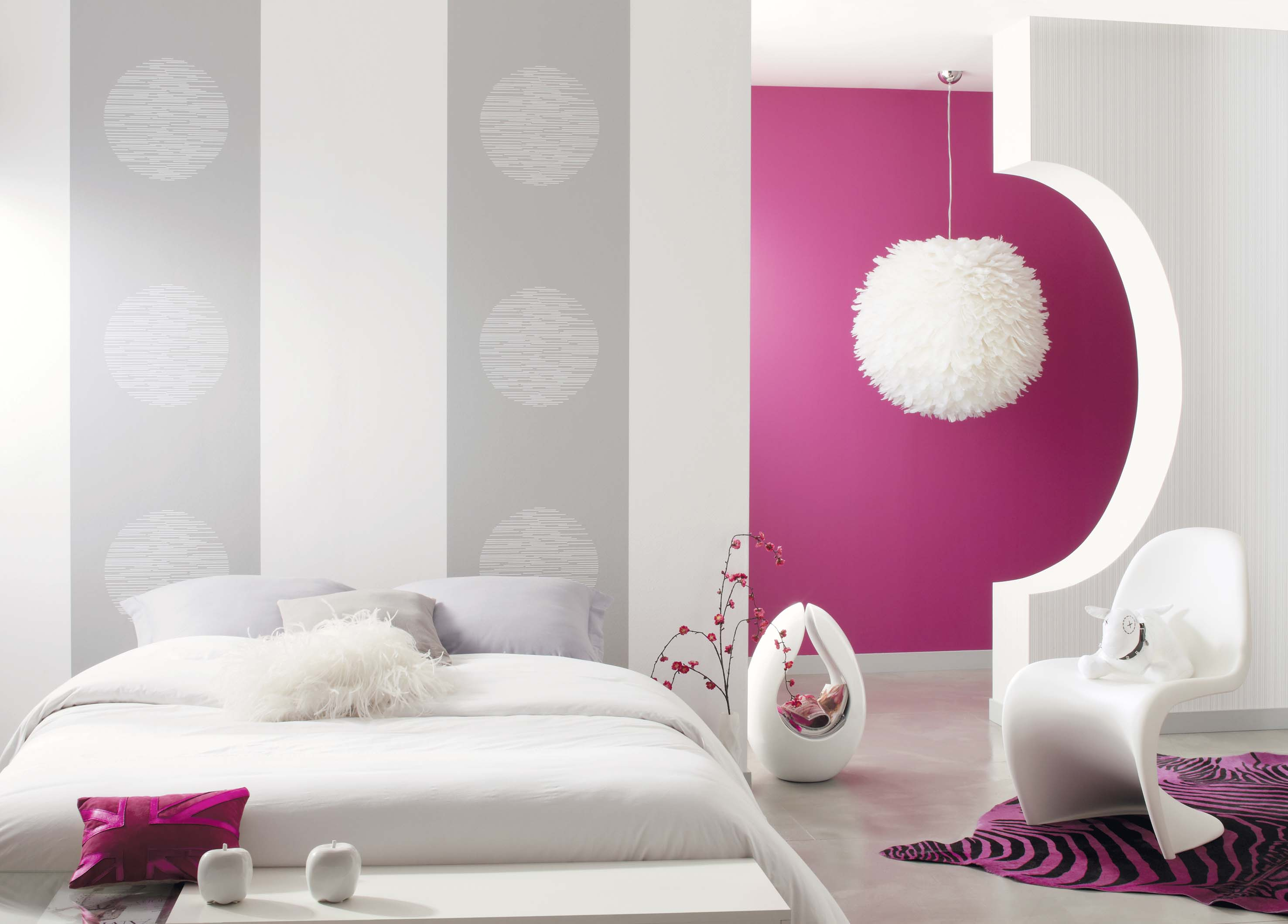 tendance papier peint pour chambre adulte meilleures. Black Bedroom Furniture Sets. Home Design Ideas